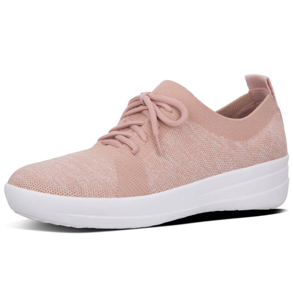FitFlop Women's F-Sporty Uberknit Sneakers Neon Blush/Urban White 7.5
