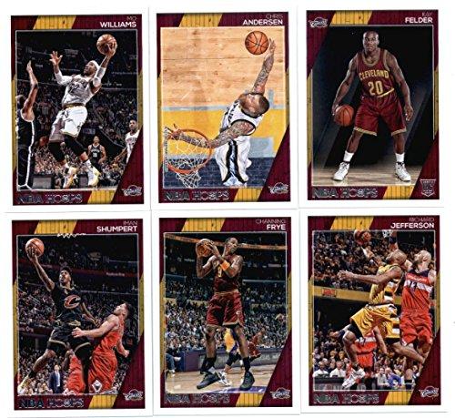 2016-17 Panini NBA Hoops Cleveland Cavaliers Team Set of 11 Cards: LeBron James(#17), Kyrie Irving(#18), Kevin Love(#19), Mike Dunleavy(#20), Tristan Thompson(#22), Channing Frye(#170), Iman Shumpert(#171), Richard Jefferson(#172), Mo Williams(#173), Chris Andersen(#183), Kay Felder(#300)