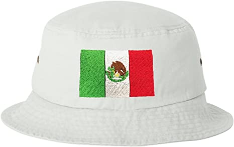 Go All Out Adult Mexico Flag Embroidered Bucket Cap Dad Hat