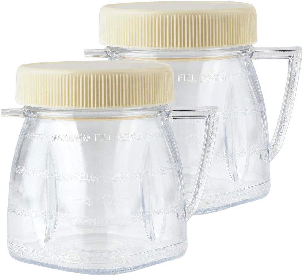 2 Pack Felji 1-Cup Mini-Blend Jars for Oster Blenders Part # 4937