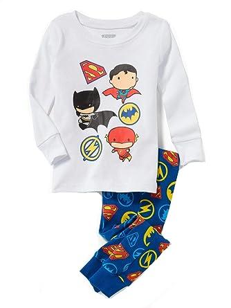 ad4eaa246 Amazon.com  Komar Justice League Super Hero Chibi Toddler Boy s Long ...
