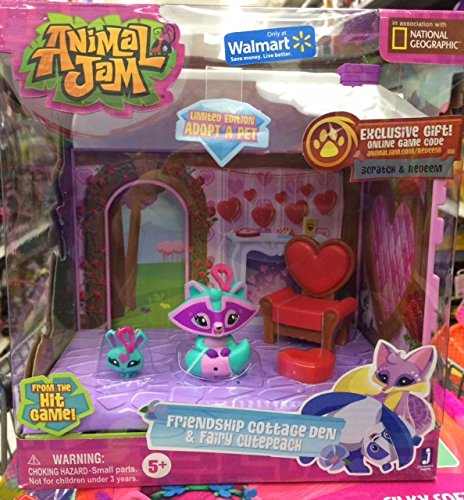 Animal Jam Friendship Cottage Den & Fairy Cutepeach Exclusive