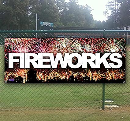 New Many Sizes Available Store Advertising Fireworks 13 oz Heavy Duty Vinyl Banner Sign with Metal Grommets Flag,