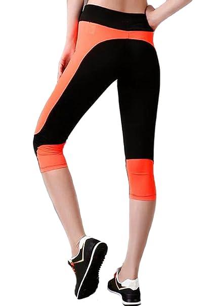 Amazon.com: clothdigger negro y naranja Patchwork Capri ...