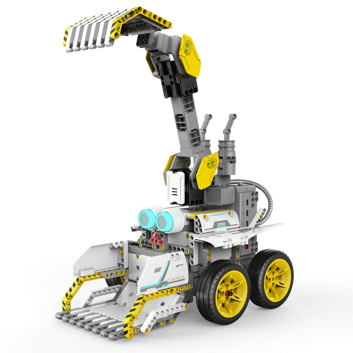 UBTECH JIMU Robot Builderbots Series: Overdrive Kit / App-Enabled Building and Coding STEM Learning Kit (410 Parts and Connectors) by UBTECH (Image #2)
