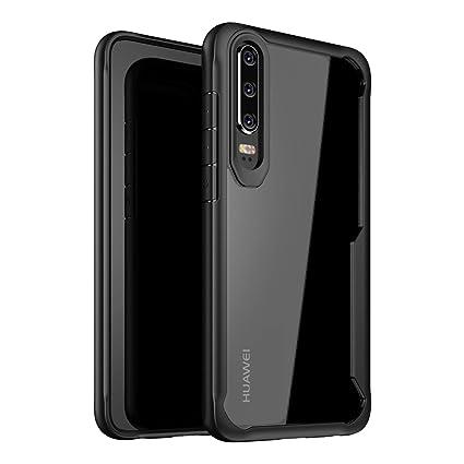 online store 4c0ee ed1c2 Amazon.com: Olixar for Huawei P30 Bumper Case - Hard Tough Slim ...
