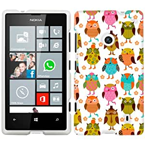 Nokia Lumia 520 Colorful Owls Phone Case