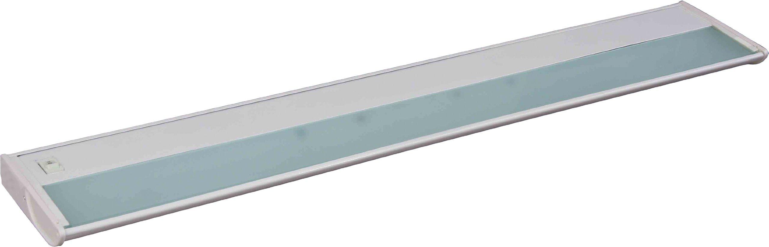 Maxim 87834WT CounterMax MX-X120 40'' 5-Light 120V Xenon, White Finish, Glass, G8 Xenon Xenon Bulb , 13W Max., Dry Safety Rating, 2700K Color Temp, Glass Shade Material, 900 Rated Lumens