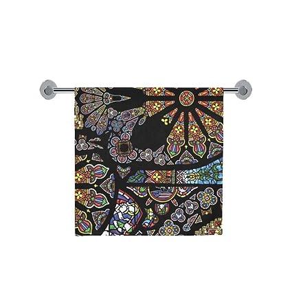 Amor naturaleza personalizado de vidriera con baño cuerpo ducha toalla de baño Wrap para el hogar