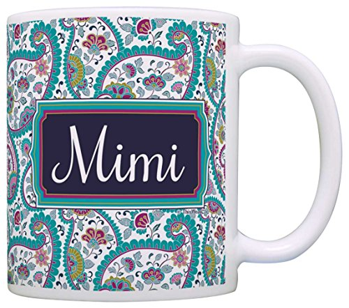 Mothers Gift Birthday Coffee Paisley