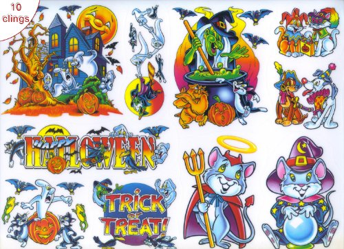 Halloween Glass Stickers Clings Decorations Vinyl Film Window