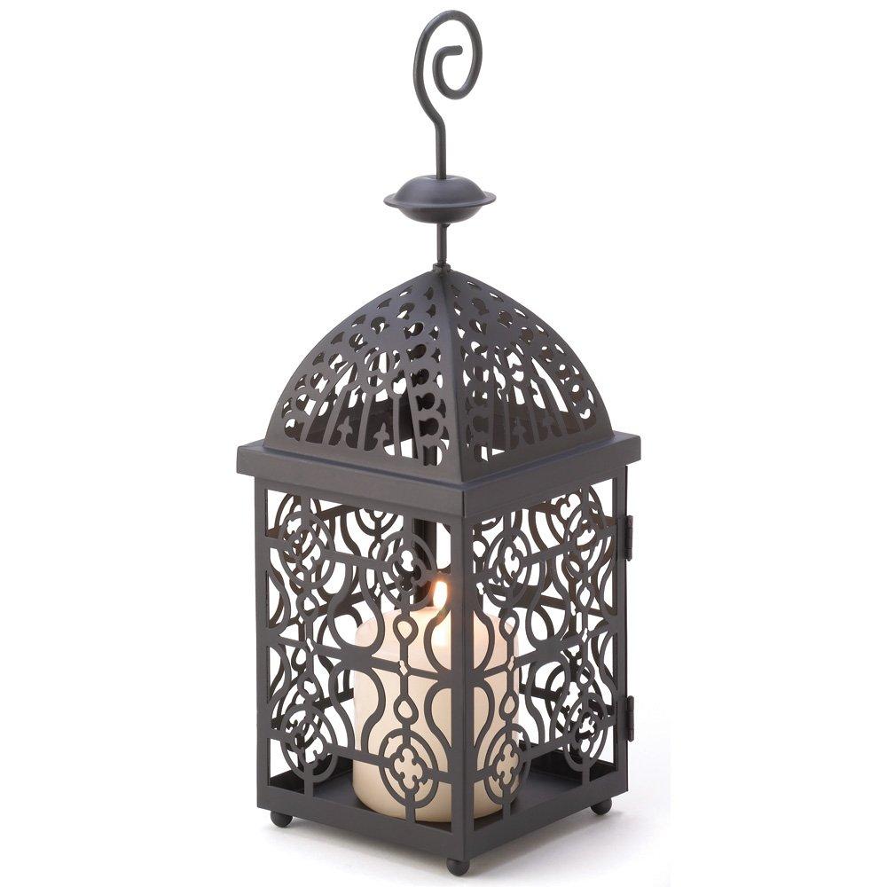 Amazon.com: Moroccan Birdcage Iron Candle Holder Hanging Lantern ...