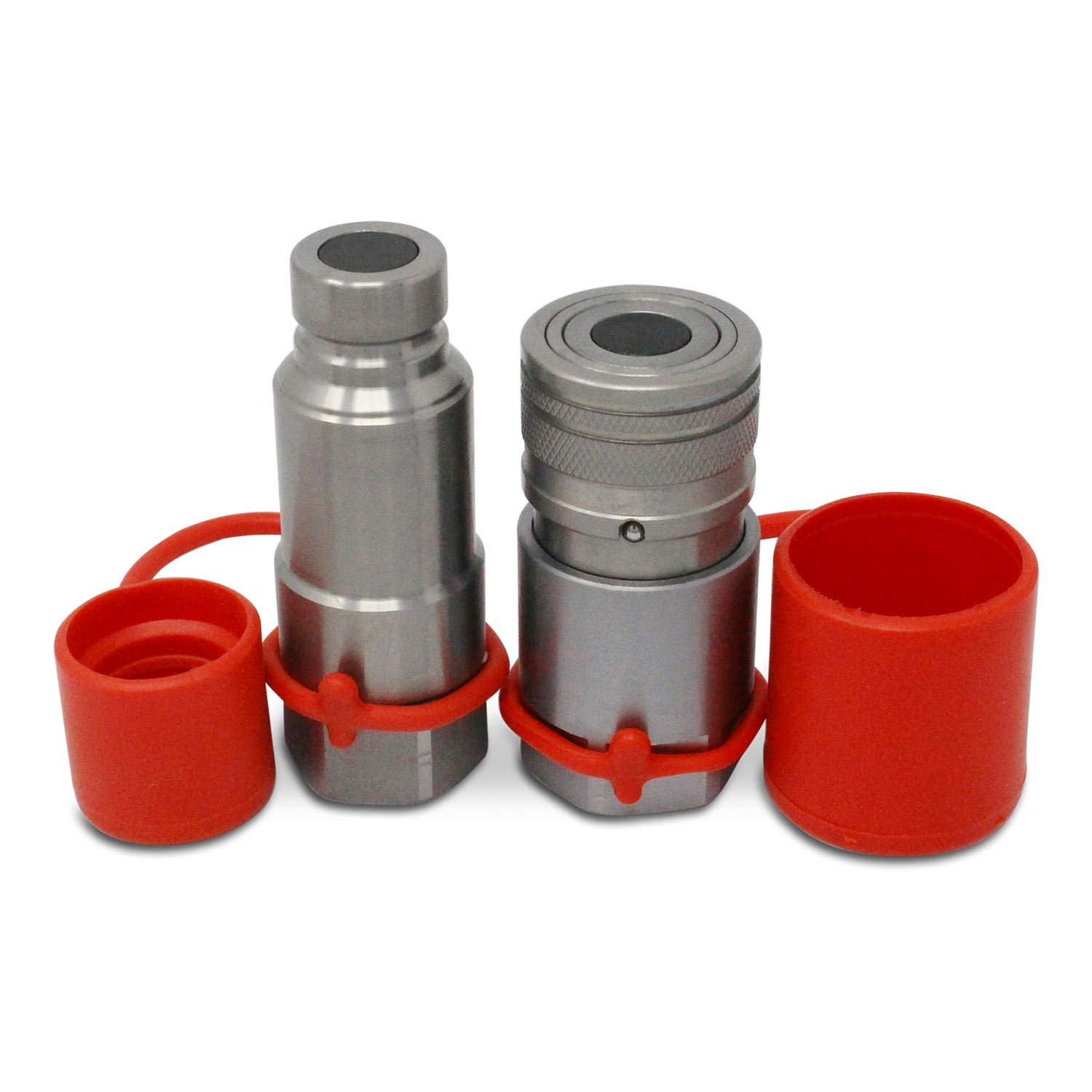 Flat Face Connect Under Pressure Hydraulic Quick Connect Coupler Set, 1/2″ NPT Thread
