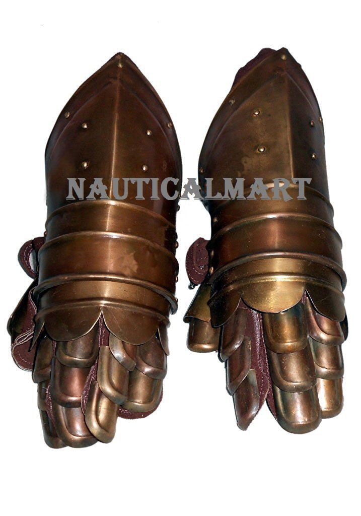 MEDIEVAL KNIGHT ARMOR GAUNTLETS HALLOWEEN PARTY COSTUME BY NAUTICALMART