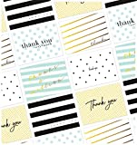 114 Pack Thank You Cards, Small Business Corporate Thank You Cards Bulk Box Set, 6 Polka Dot and Striped Designs, Blank on the Inside Assorted Note Cards, Envelopes Included, 4.75 x 3.5 Inches