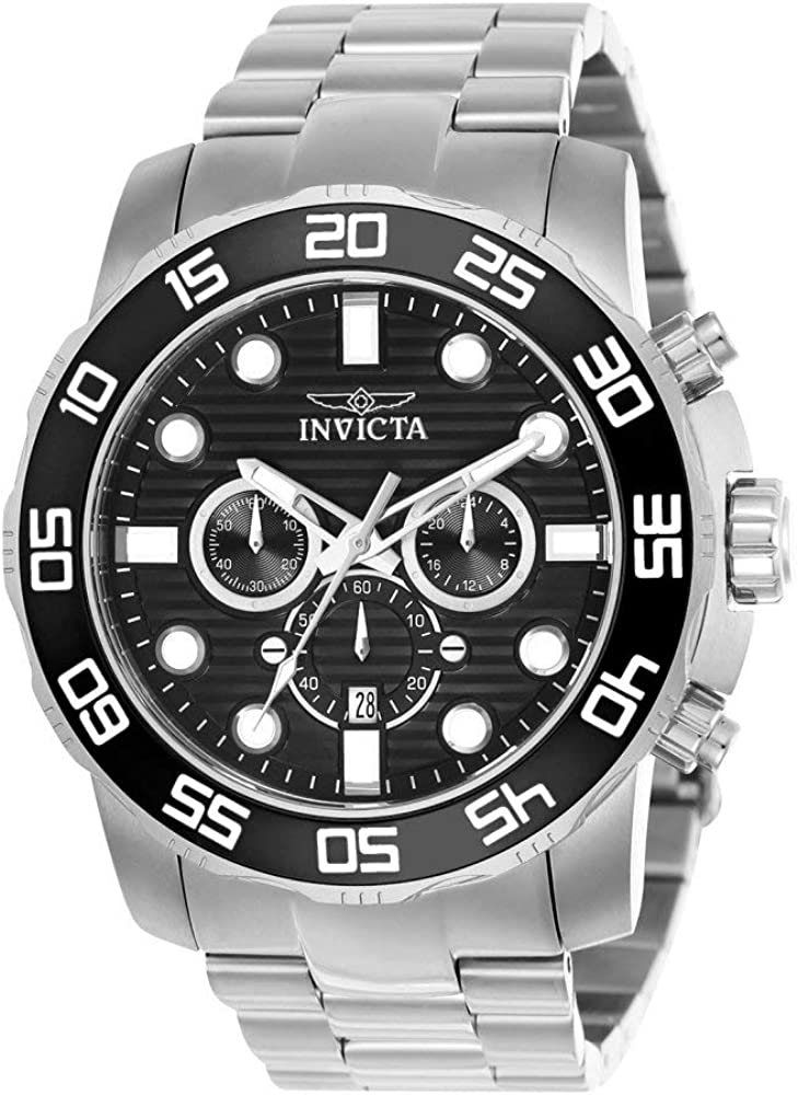 Invicta Men s Pro Diver Quartz Watch with Stainless-Steel Strap, Silver, 26 Model 22226