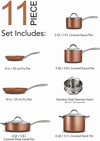 Tramontina copper cookware set