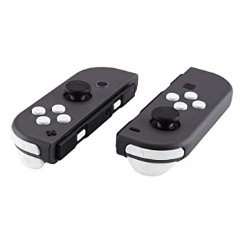 eXtremeRate White Replacement ABXY Direction Keys SR SL L R ZR ZL Trigger Buttons Springs, Full Set Buttons Repair Kits with Tools for Nintendo Switch Joy-Con JoyCon Shell NOT Included