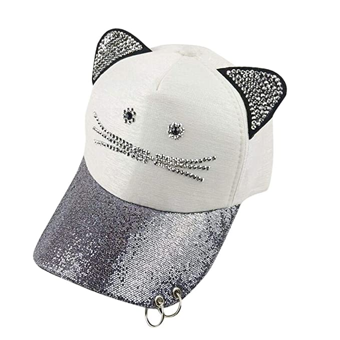 Gorra De Béisbol Ajustable para Hombre Y Moda para Mujer Mujer Dibujos Animados Orejas De Gato