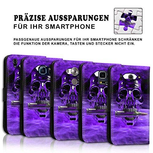 Wallet Book Style Flip Handy Tasche Case Schutz Hülle Schale Motiv Etui für Apple iPhone 6 / 6S - Design Flip MVD294