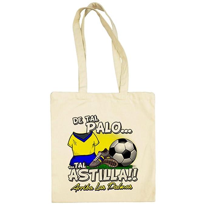 Bolsa de tela De tal palo tal astilla Las Palmas fútbol - Beige, 38 x 42 cm: Amazon.es: Ropa y accesorios