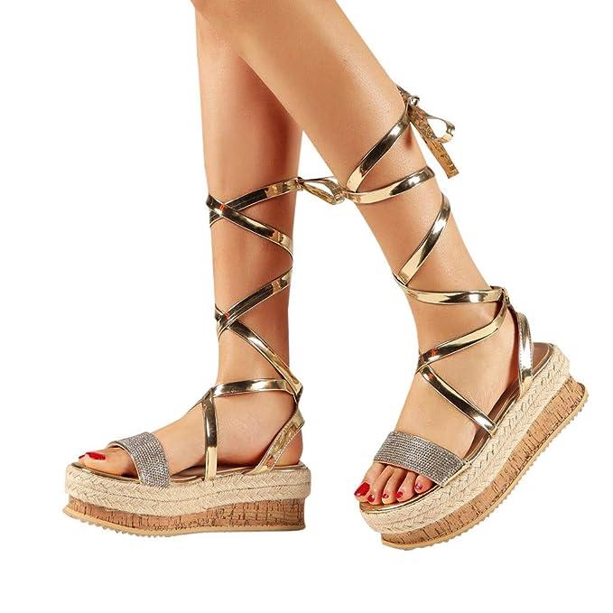 Cristal Señoras Aq34lj5r Casual Zapatos Plana Mujeres Sandalias De iwOkXuTPZl