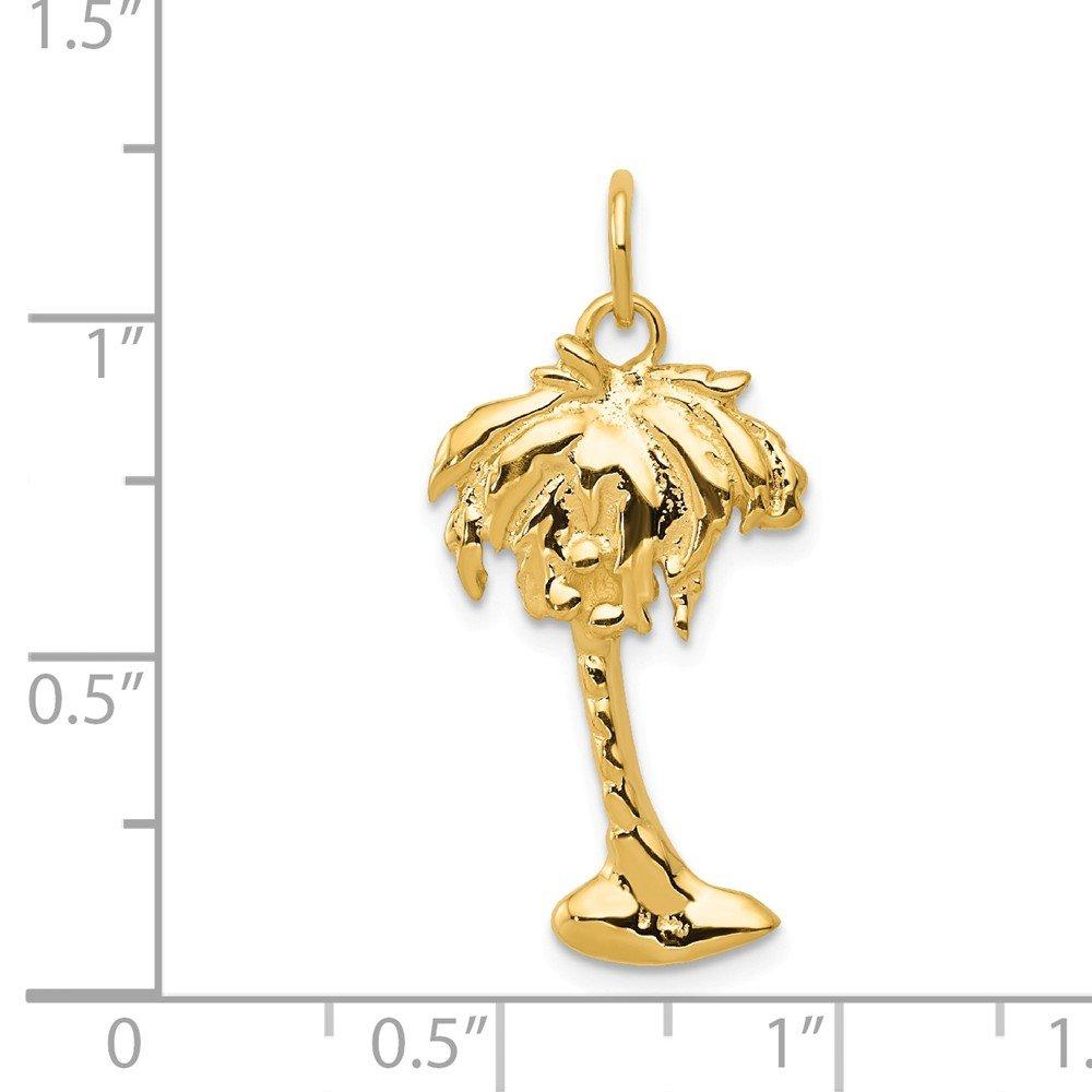 14K Yellow Gold Palm Tree Charm