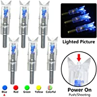 6PCs MS JUMPPER Automatic LED Archery Arrows Lighted Nocks with 5.3mm Dia