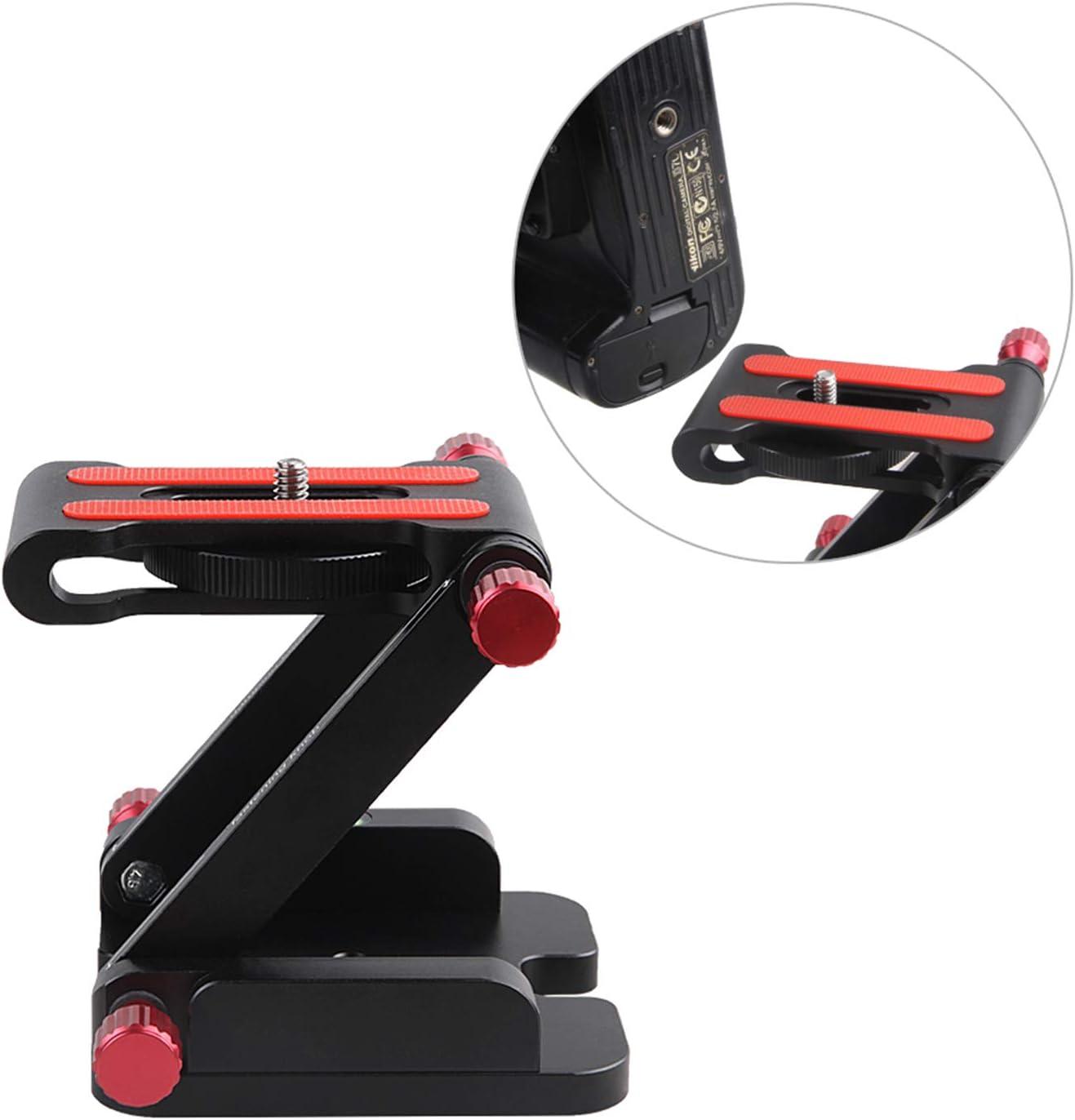 MeterMall Electronics Z Flex Tilt Head Folding Quick Release Plate Camera Ball Head Stand for DSLR Tripod Slider Rail Stabilizer