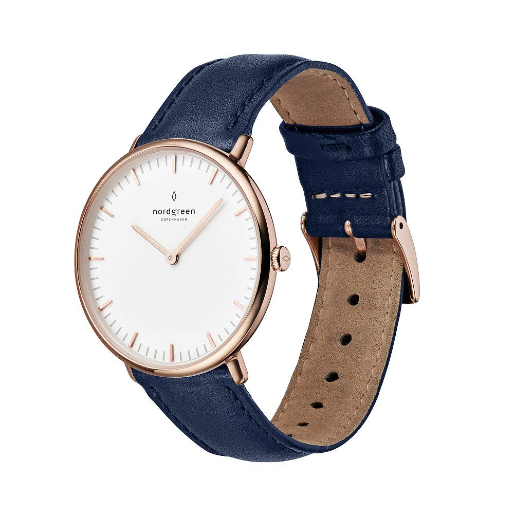 Nordgreen Unisex Native Scandinavian Rose Gold Analog Watch with Leather Or Mesh Strap 10053