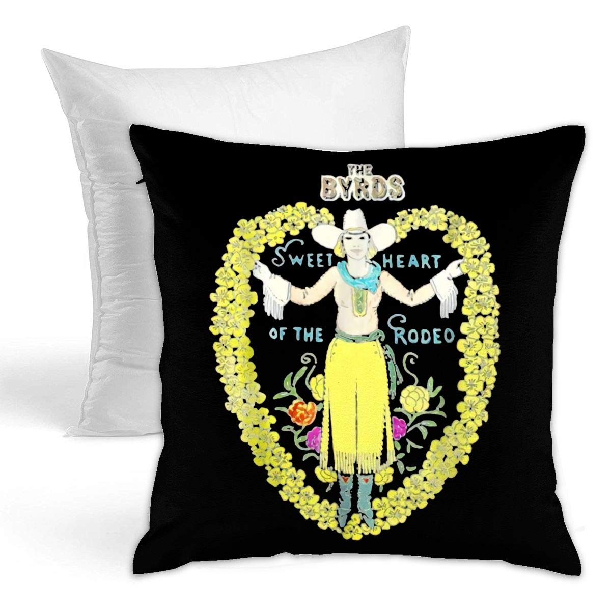 A/&B Home Anthony Venetucci 18-Inch Embroidered Throw Pillow Black