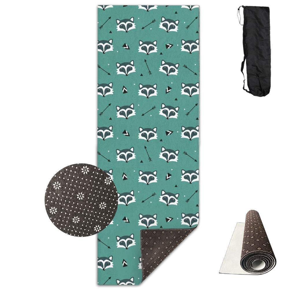 Cute Raccoons Arrows Triangles. Yoga Mat Towel for Bikram Hot Yoga, Yoga and Pilates, Paddle Board Yoga, Sports, Exercise, Fitness Towel