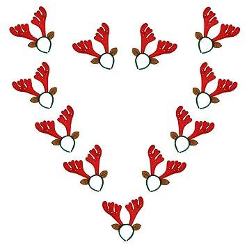 d070927406051 Amazon.com  Fellibay Reindeer Antlers Headband Xmas Headband Costume Antlers  for Christmas Easter Party Headbands (Red)  Beauty