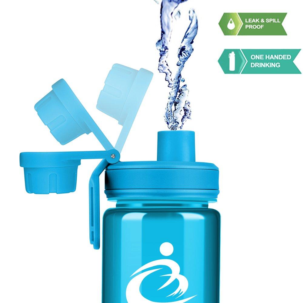 Grsta Bottiglia Acqua di Sport a Prova di perdite,Senza BPA BPS,plastica Detox Bottiglia Borraccia Sportiva Palestra per Bambini,la Corsa,Fitness,all Aperto e Camping,Outdoor,Gym,Bottiglie dAcqua
