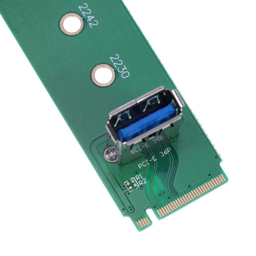 Occitop M.2 NGFF to PCI-E Channel USB3.0 Port Adapter Riser Card Mining Card Kit