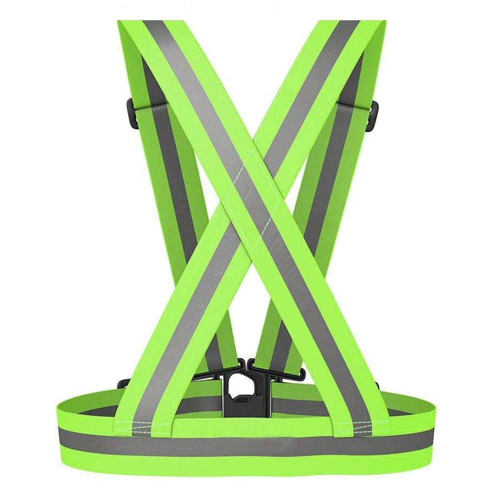 Meyerglobal Reflective Vest, High Visibility, Safety Adjustable Belt Regular Size (10piecesGreen, Regular Size) by Meyerglobal (Image #2)