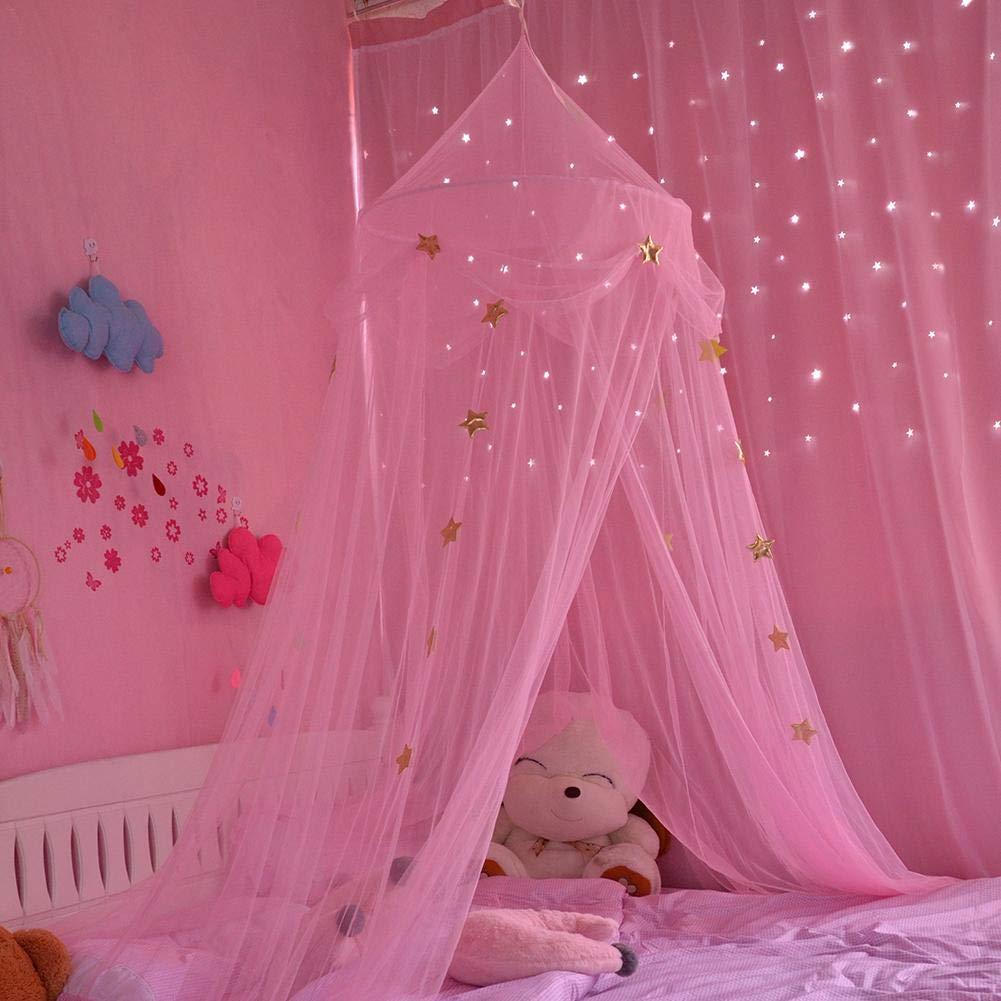 Moskitonetze Insektenschutz Babybett vorhang Baldachin Betthimmel Moskitonetz abweisend Insekten Kinder Prinzessin Zelte Schutz Dekoration Bettzubeh/ör f/ür Kinderzimmer oder 1.2m 1.5m 1.8m Kinderbett