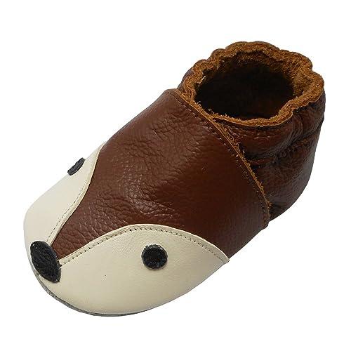 choisir l'original Nouvelle détaillant en ligne YIHAKIDS Bébé Filles Garçons Chaussures Cuir Souple Enfant Chaussons Cuir  Doux Chaussures Premiers Pas