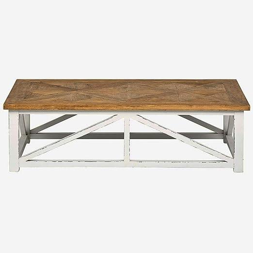 Amazon Com Rustic Farmhouse Coffee Table For Living Room Modern