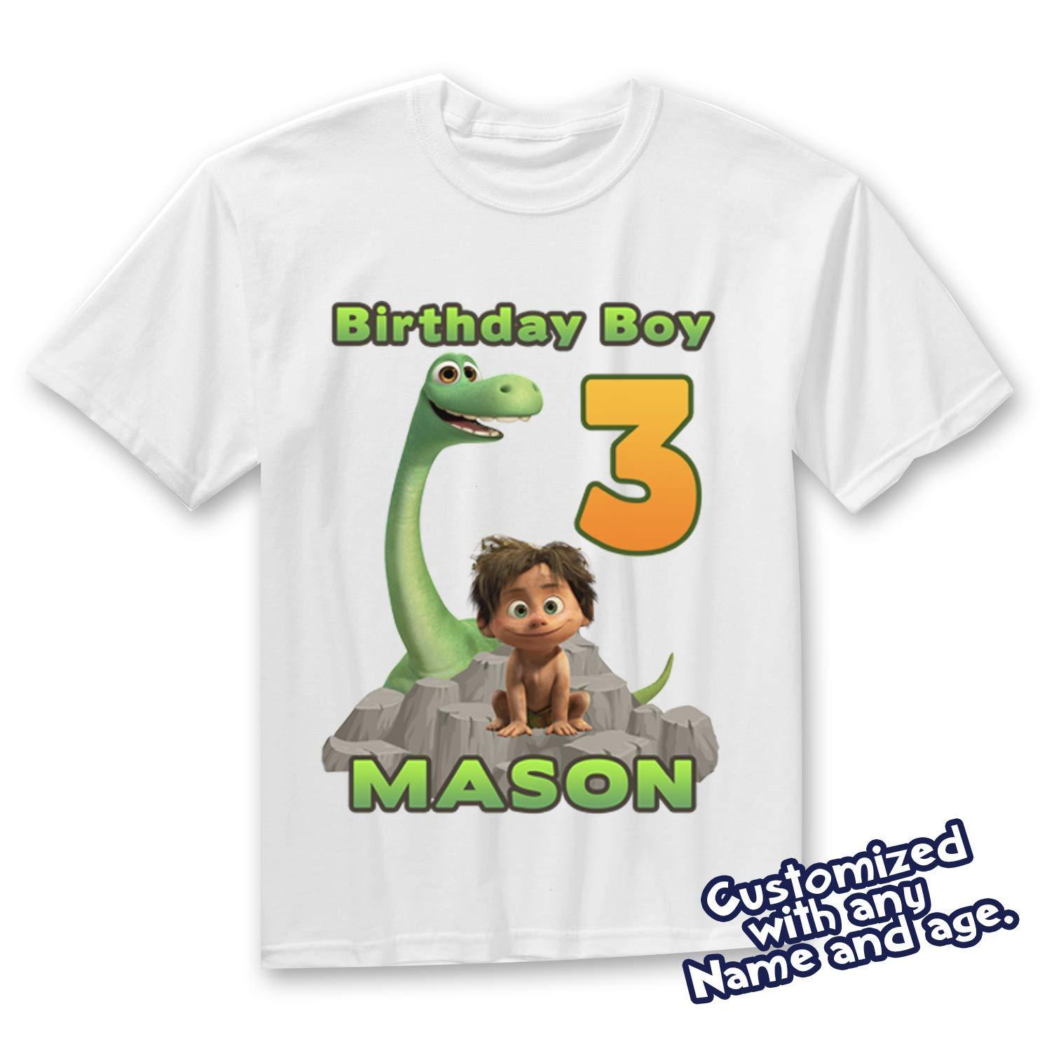5a612fbfd Amazon.com: The Good Dinosaur Birthday Shirt, Dinosaur Birthday Shirt:  Handmade
