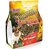 Tropical Carnival F.M. Brown's Gourmet Pet Rabbit Food with High-Fiber Timothy and Alfalfa Hay Pellets - Probiotics for Digestive Health, Vitamin-Nutrient Fortified Daily Diet