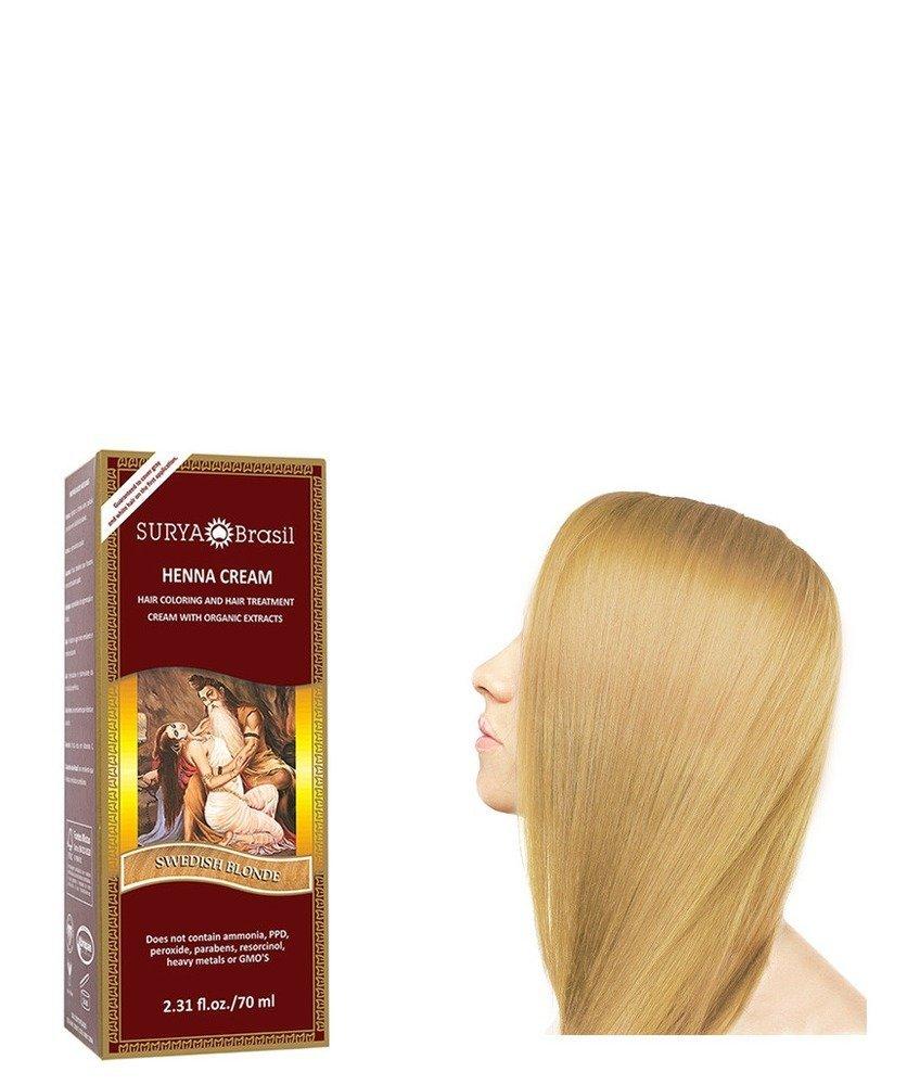 Henna Swedish Blonde Cream Surya Nature, Inc 2.31 oz Cream