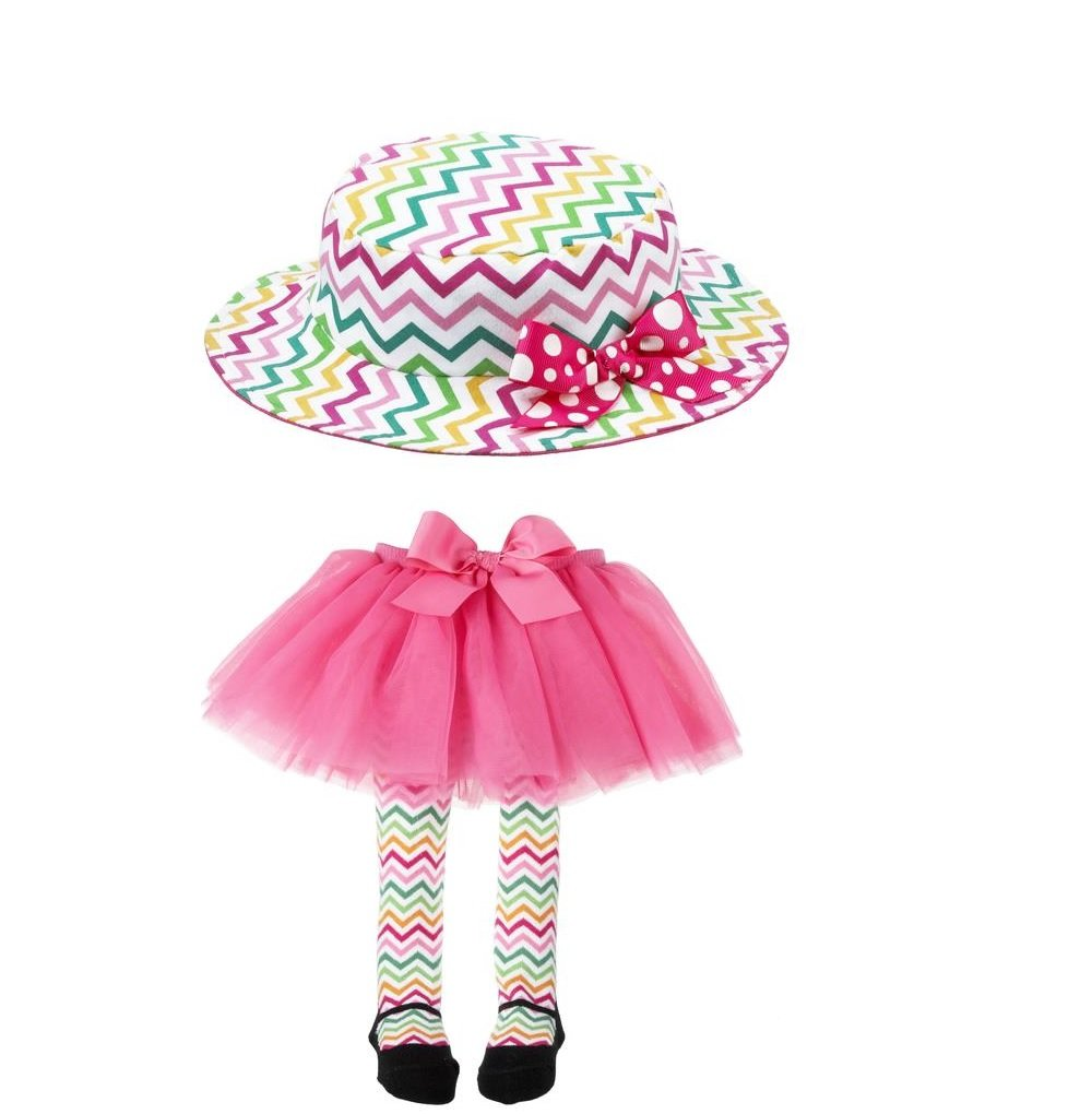 Ganz Baby Ella Jackson Cheveron - Baby Tutu Tights and Hat by Ganz