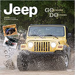 Jeep Calendar 2019 Jeep 2019 12 x 12 Inch Monthly Square Wall Calendar, Offroad Motor