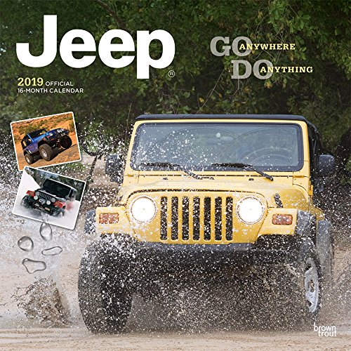Jeep 2019 12 x 12 Inch Monthly Square Wall Calendar, Offroad Motor Car