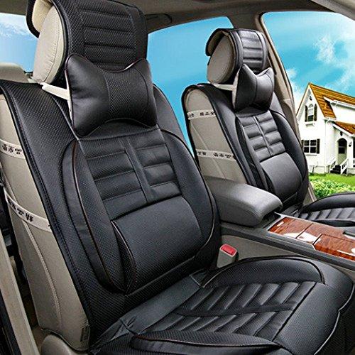 Leeko 2pcs Leather Car Seat Pillow Breathable Car Head