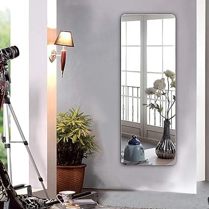 Miroir au sol- Miroir mural simple sans cadre chambre à ...