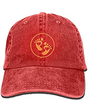 Cute Baby Footprints Women Printing Hat Cowboy Hats Sun Hats