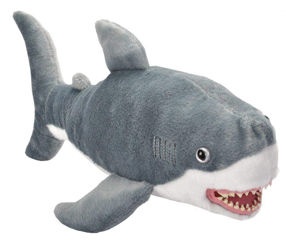 Wild Republic, Great White Shark Plush, Stuffed Animal, Plush Toy, Gifts for Kids, Predator 21'' by Wild Republic