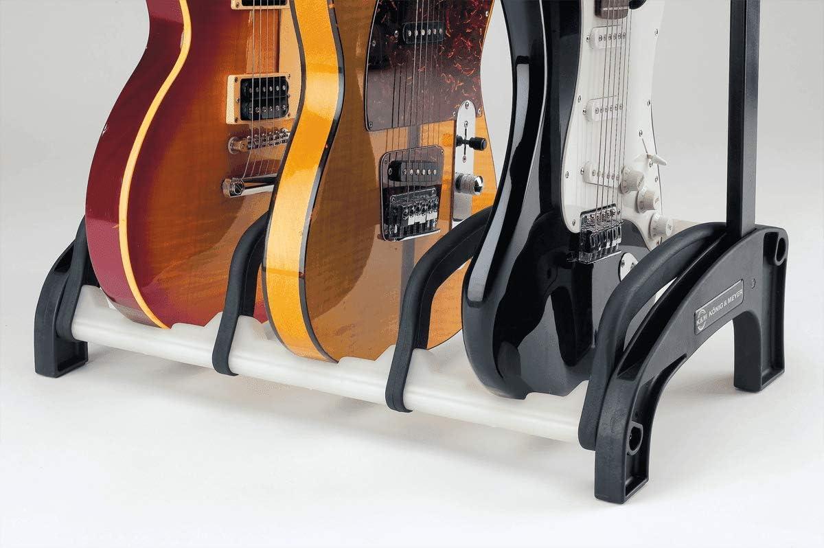 schwarz//weiß König /& Meyer 17534 4-fach Gitarrenständer »Guardian 3+1«